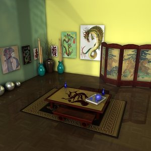 chinese room 3d 3ds