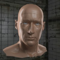 3ds max male hero head normal