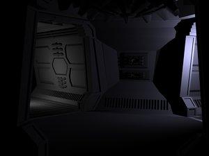 aliens doom style spaceship 3d lwo