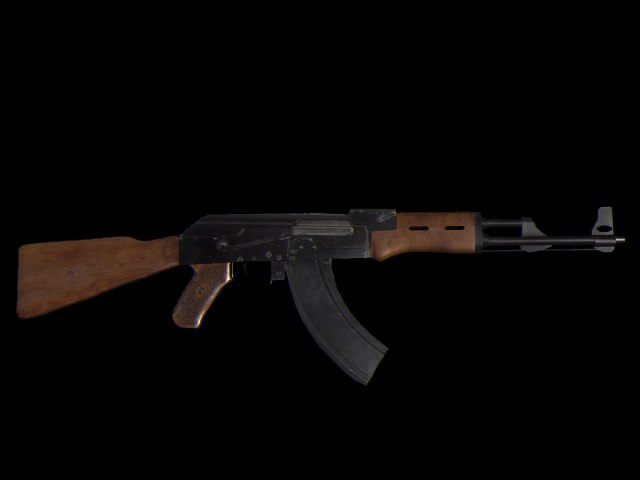 ak-47 ak 47 3d 3ds