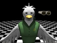 3d model humanoid bird version