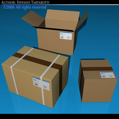 shipping boxes 3ds