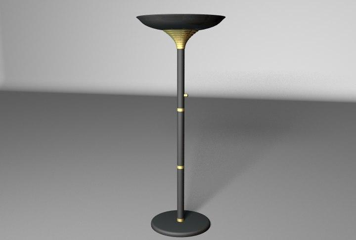 lwo halogen floor lamp