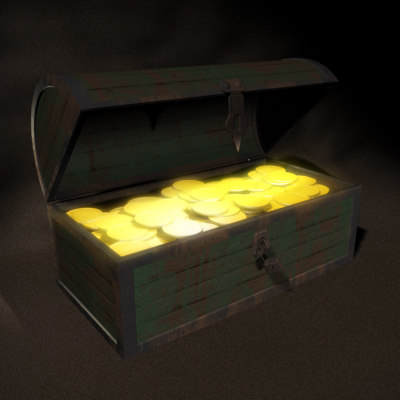 treasure chest 3d x