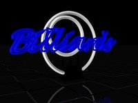 neon sign billiards c4d free