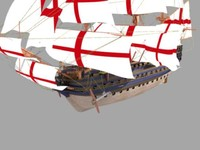 3d max hms victory ship battle