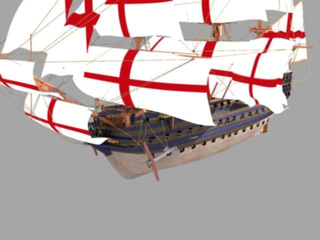 3d max hms victory ship battle