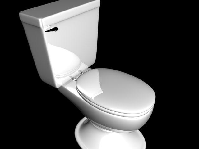 3d c4d white toilet