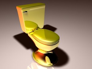 cinema4d toilet gold