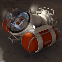 deep sea submarine 3d model