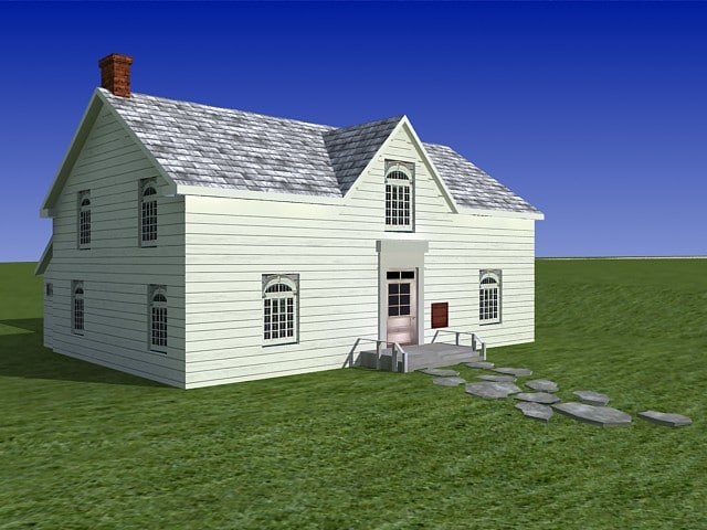 3ds max old house barn