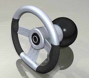 performance steering wheel 3d model