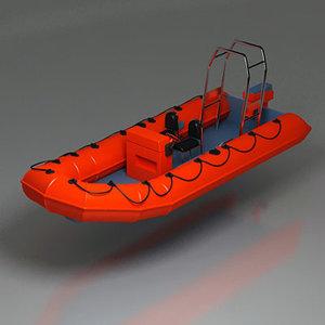 3d model dinghy motor