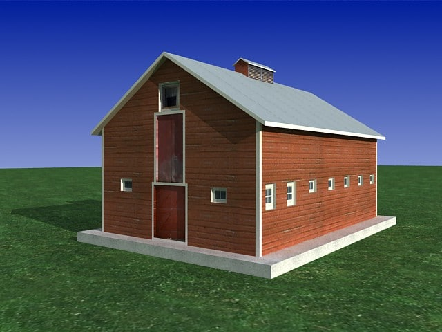 barn building obj