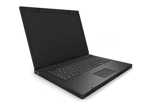 3d model of laptop