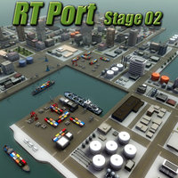 port harbour rt industrial 3d model