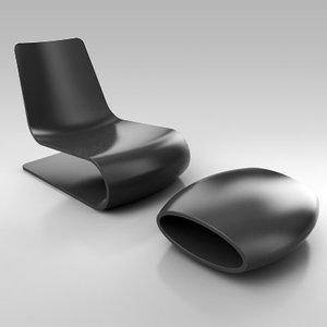nouvelle vague chair 3d model