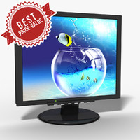 3d model pc monitor lcd