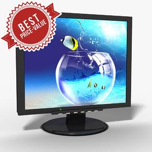 3d model pc monitor lcd
