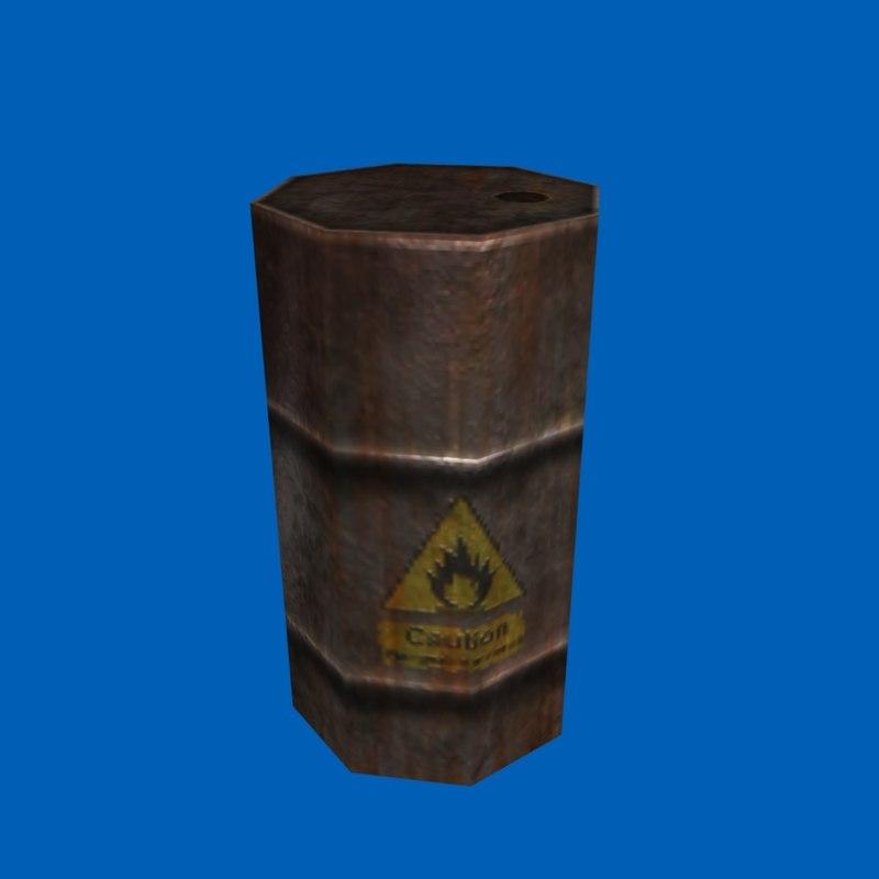 maya explosive barrel