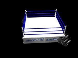 smackdown ring 3d model
