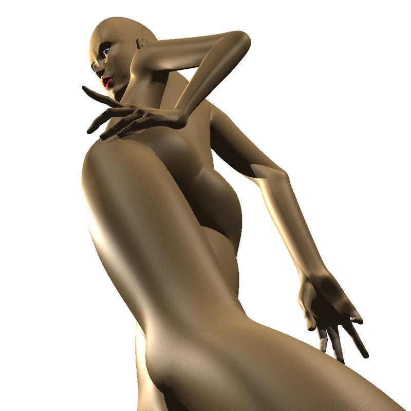 rigged girl 3d model