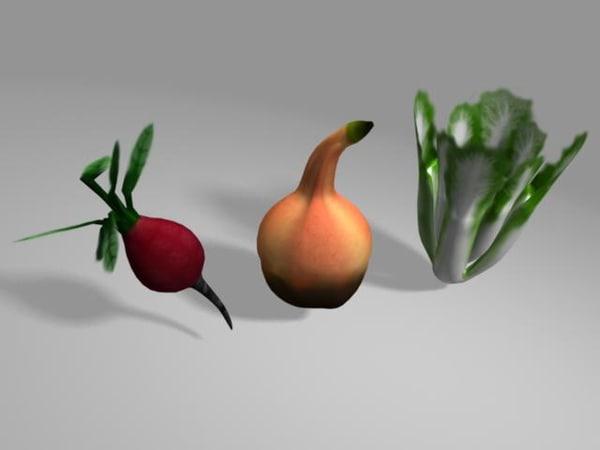 3ds veggie bok-choy beet