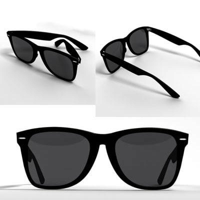 sunglasses glass 3d max