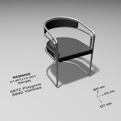 3d cantilever chair -