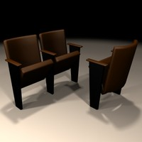 3d auditorium chair