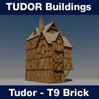 t tudor style medieval building 3ds