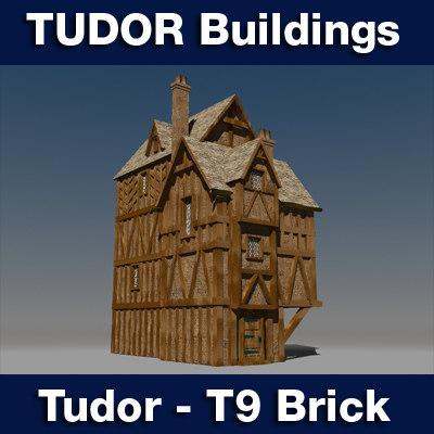t tudor style medieval building 3ds