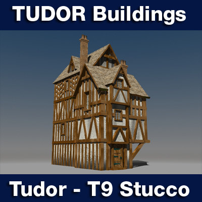 lightwave t9 tudor style medieval building