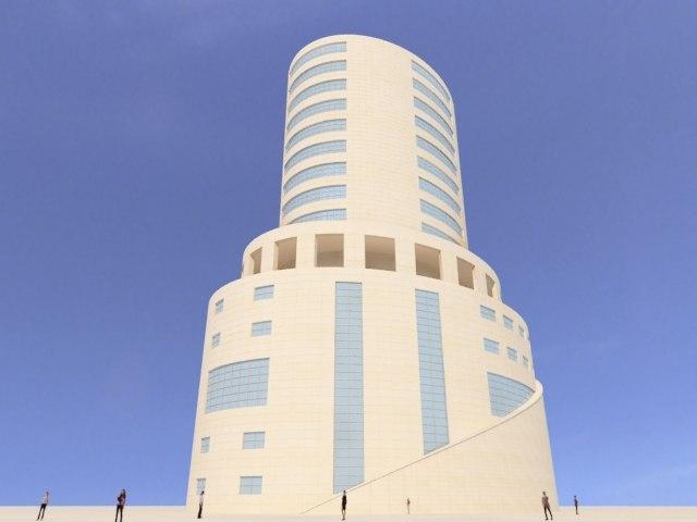 3d model of concept skyscraper