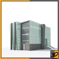 concept modern office building max