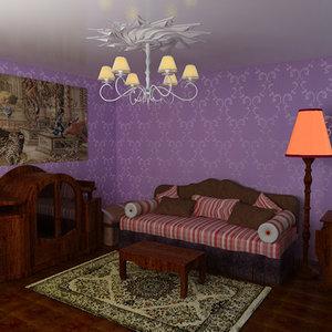 3d room purple