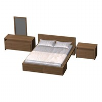bed furniture bedroom 3d model