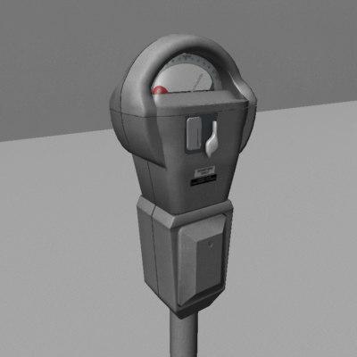 3d parking meter