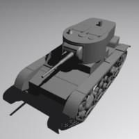 t-26 tank 3d max