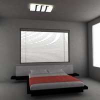 3d bed bedroom