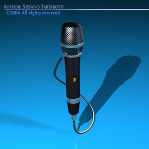 mic microphone 3d 3ds