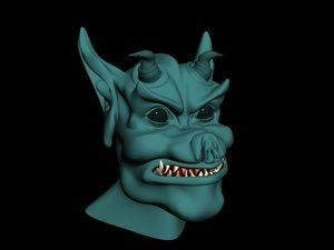 gargoyle head 3d model