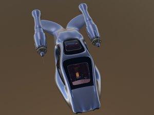 3d transportation hover model
