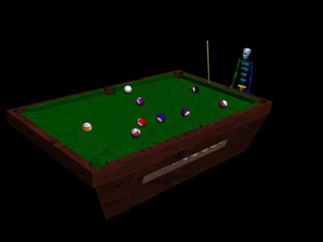 free pool table 3d model