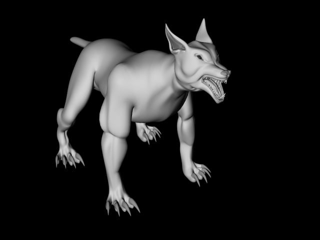 lightwave object hell hound lwo