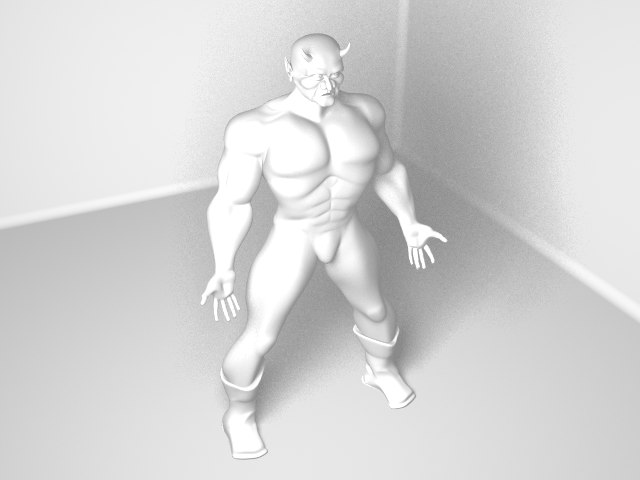3d demon creature