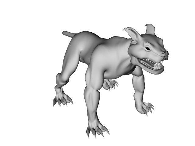 3d hell hound