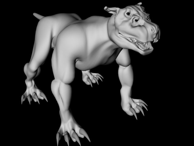 3d lightwave hell hound model