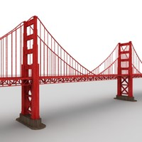bridge polygonal 3d model