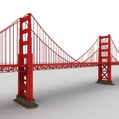 bridge polygonal 3d model